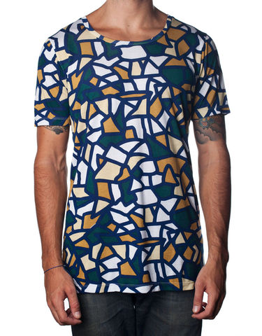 Nemis,Mosaic,Tee,pasar fashion online, nemis clothing, urban streetwear, Clothing,Tshirt,geometric,aztec,native,tribal,bold,graphic,print,fashion,mens,women,streetwear,retro,urban,cotton,supima,40s