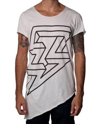 Nemis,Asymmetric,Lightning,Guys,dress, tshirt, top, asymmetric, print, lightning, fashion