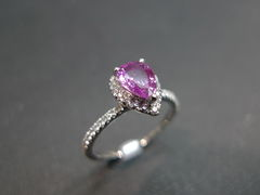 Pink Sapphire Diamond Ring - product images 3 of 5