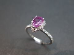 Pink Sapphire Diamond Ring - product images 5 of 5