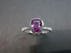 Pink Sapphire Diamond Ring - product images 4 of 5