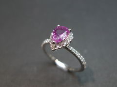Pink Sapphire Diamond Ring - product images 2 of 5