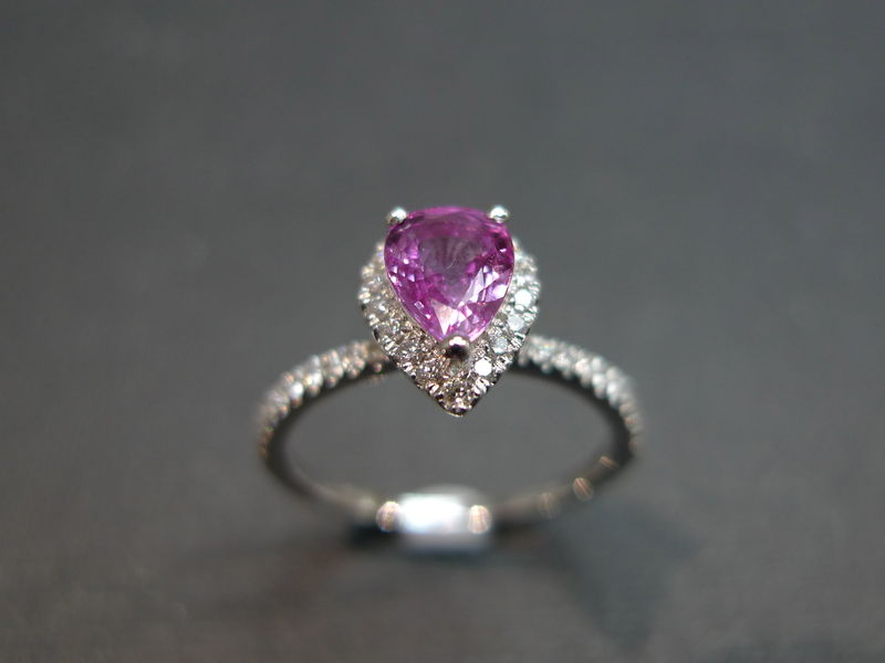 Pink Sapphire Diamond Ring - product image