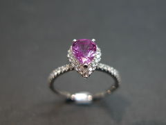 Pink Sapphire Diamond Ring - product images 1 of 5
