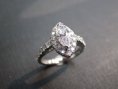 Marquise Diamond Engagement Ring - product images  of