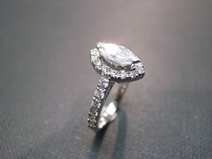 Marquise Diamond Engagement Ring - product images 3 of 6