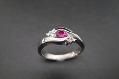 Diamonds Ring with Ruby - product images 3 of 7