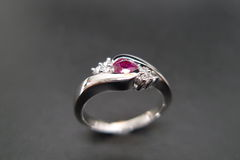Diamonds Ring with Ruby - product images 4 of 7