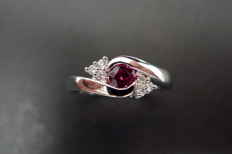 Diamonds Ring with Ruby - product image