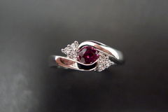 Diamonds Ring with Ruby - product images 5 of 7