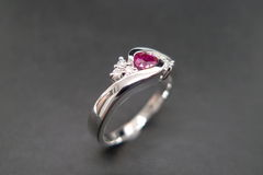 Diamonds Ring with Ruby - product images 6 of 7