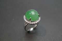 Diamond Ring with Jade - product images 2 of 8