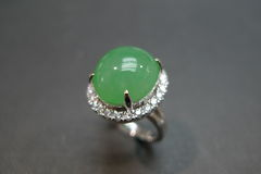 Diamond Ring with Jade - product images 3 of 8
