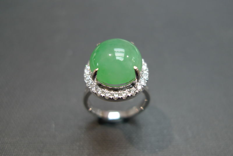 Diamond Ring with Jade - product image
