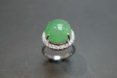Diamond Ring with Jade - product images 4 of 8