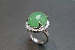 Diamond Ring with Jade - product images 5 of 8