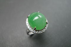 Diamond Ring with Jade - product images 6 of 8