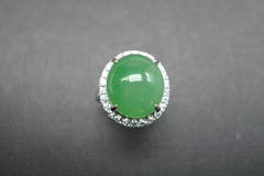 Diamond Ring with Jade - product images 7 of 8