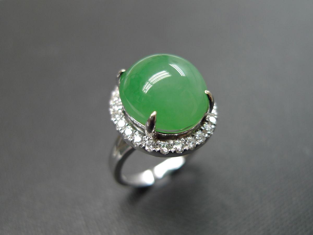 diamondringwithjadejewelry ring jade engagement anniversary bridesmaid natural oval - Jade Wedding Ring