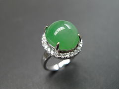Diamond Ring with Jade - product images 1 of 8