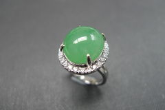 Diamond Ring with Jade - product images 8 of 8