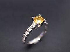 Yellow Sapphire Diamond Ring - product images 1 of 5