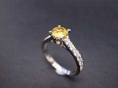 Yellow Sapphire Diamond Ring - product images 2 of 5