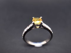 Yellow Sapphire Diamond Ring - product images 3 of 5