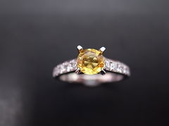 Yellow Sapphire Diamond Ring - product images 4 of 5