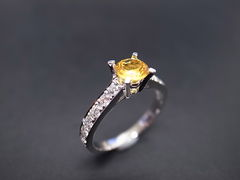 Yellow Sapphire Diamond Ring - product images 5 of 5