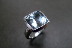 Aquamarine Wedding Ring - product images 2 of 5