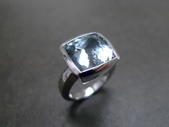 Aquamarine Wedding Ring - product images 1 of 5