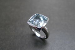 Aquamarine Wedding Ring - product images 3 of 5