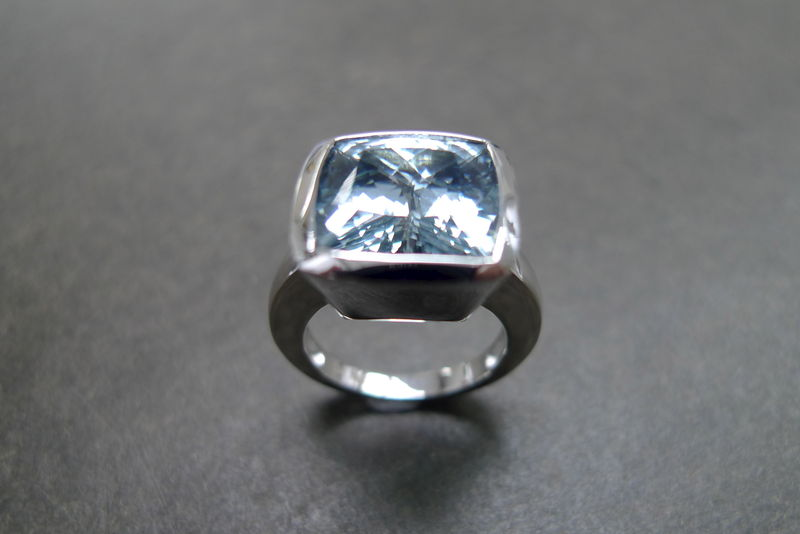 Aquamarine Wedding Ring - product image