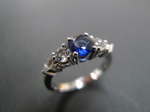 Blue,Sapphire,and,White,Ring,Jewelry  Ring  wedding ring  anniversary  engagement ring  christmas gift  white yellow gold classic ring  mother gift  white sapphire ring  purple ring  sapphire ring  sapphire wedding marquise sharp stone  marquise
