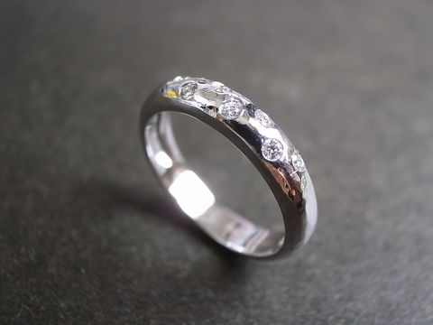 Diamond,Wedding,Hammered,Ring,Jewelry  Ring  wedding band  diamond ring band  stackable ring  engagement ring  anniversary gift custom made jewelry  engagement diamond  classic ring  diamond wedding ring  wedding diamond ring diamond engagement  hammered finished  hammered ring