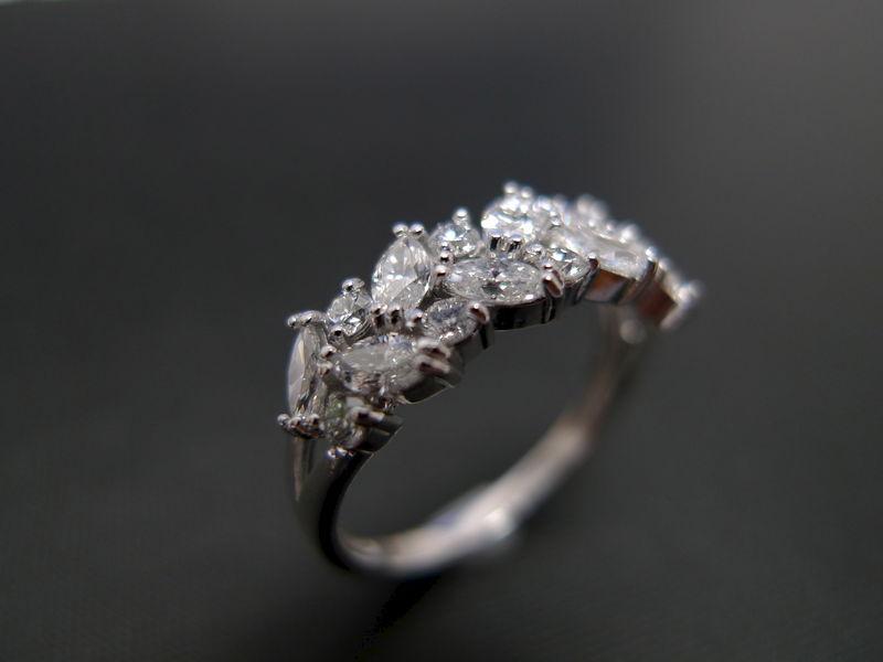 Marquise Diamond Wedding Ring HN Jewelry