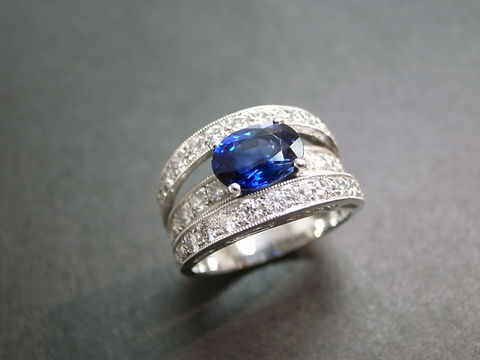 Diamond,and,Blue,Sapphire,Ring,Jewelry,wedding_ring,wedding_band,diamond_ring,sapphire,natural,anniversary,engagement,custom_made_jewelry,classic_wedding_ring,diamond_wedding_ring,blue_sapphire_ring,wedding_diamond_ring,18k white gold