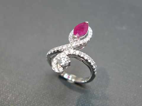 Diamond,Ruby,Ring,Jewelry  Ring  diamond band  wedding band ring  anniversary gift  engagement ring  red custom made jewelry  fine fashion jewelry  classic ring  marquise shape  ruby ring  diamond wedding ring wedding diamond ring  engagement diamond