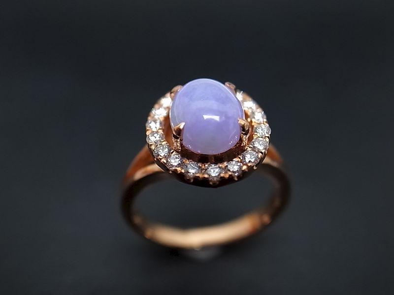 purple jade diamond ring hn jewelry