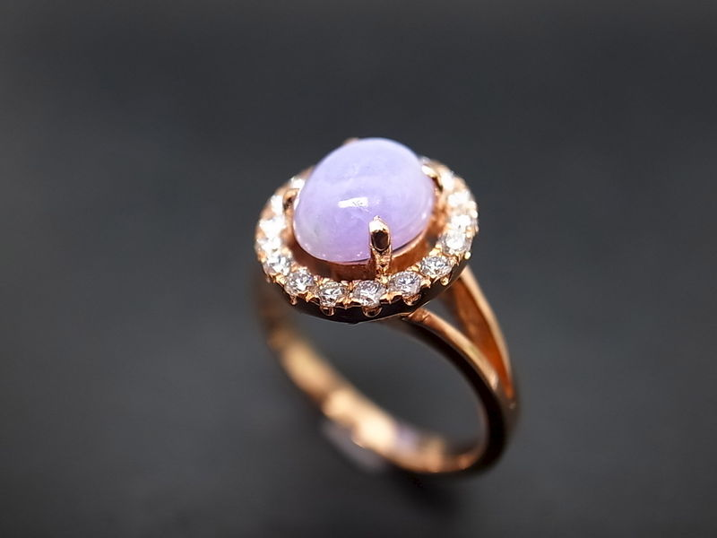 Purple Jade Diamond Ring Product Images Of