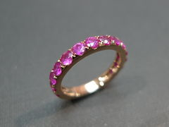 Pink Sapphire Wedding Band - product images 2 of 7