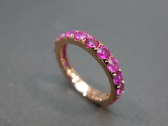 Pink Sapphire Wedding Band - product images 1 of 7