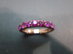 Pink Sapphire Wedding Band - product images 3 of 7