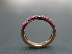 Pink Sapphire Wedding Band - product images 4 of 7