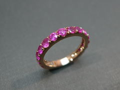 Pink Sapphire Wedding Band - product images 5 of 7