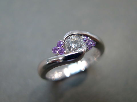 Diamond,and,Amethyst,Ring,jewelry, diamond, diamond ring, amethyst ring, wedding ring, engagement ring, diamond wedding ring, 14k white gold, 14k rose gold, 14k yellow gold, 18k white gold, 18k yellow gold, 18k rose gold, platinum, 925 sterling silver