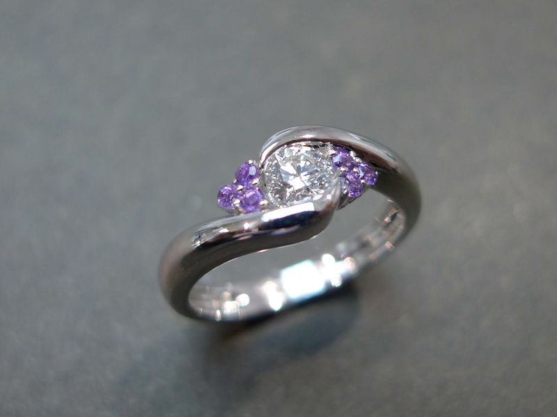 Diamond and Amethyst Ring - product images  of