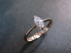 Marquise Diamond Engagement Ring - product images 2 of 9