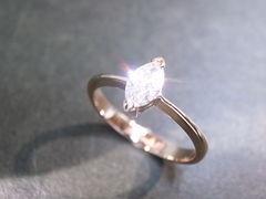 Marquise Diamond Engagement Ring - product images 1 of 9